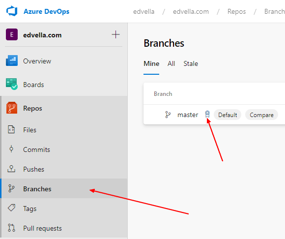 Edit the branch policies