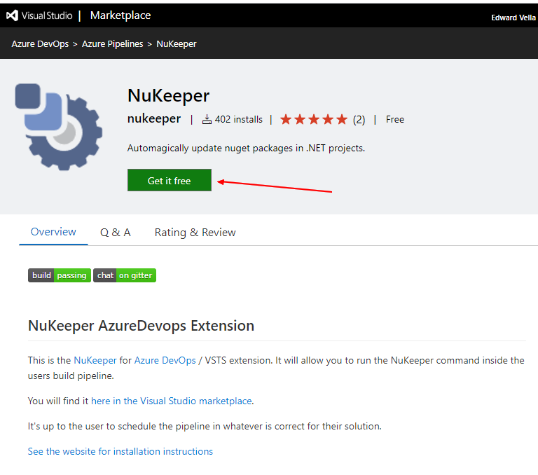 NuKeeper on the Visual Studio Marketplace
